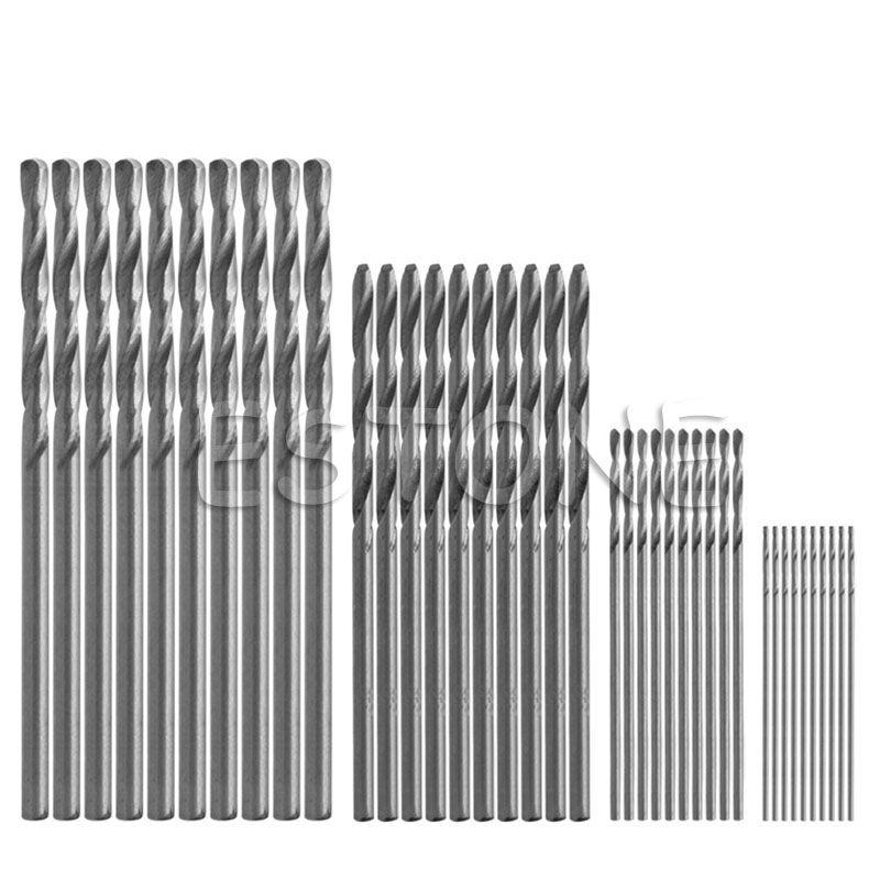 40 Stücke Mini Bohrer HSS Bit 0,5mm-2,0mm Zylinderschaft PCB Spiralbohrer Set-S018 hohe Qualität