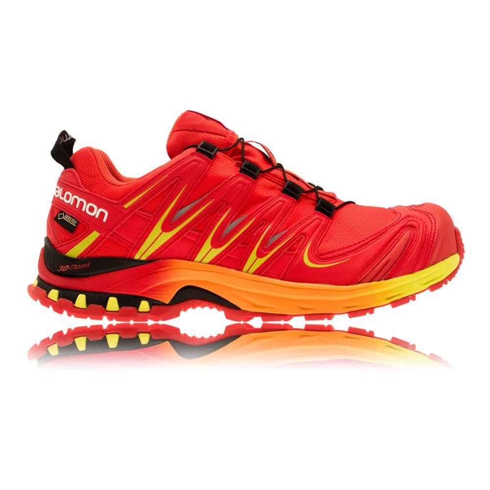Salomon XA Pro 3D GTX Limited Mens Red Orange Trail Waterproof Sports Shoes