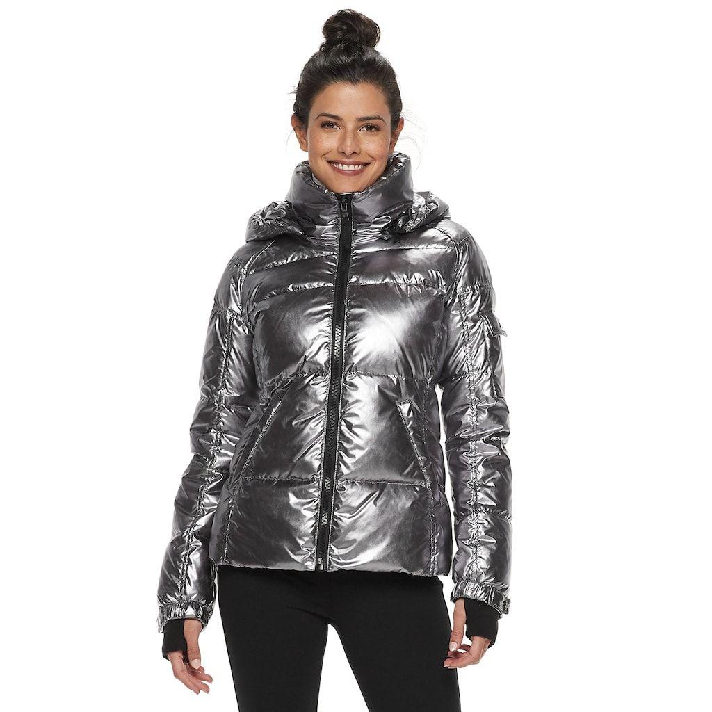 Women S S13 Hooded Metallic Down Puffer Coat Puffer Coat Down Puffer Coat Puffer [ 1024 x 1024 Pixel ]
