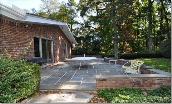 Love The Low Brick Wall Around This Patio Defines The