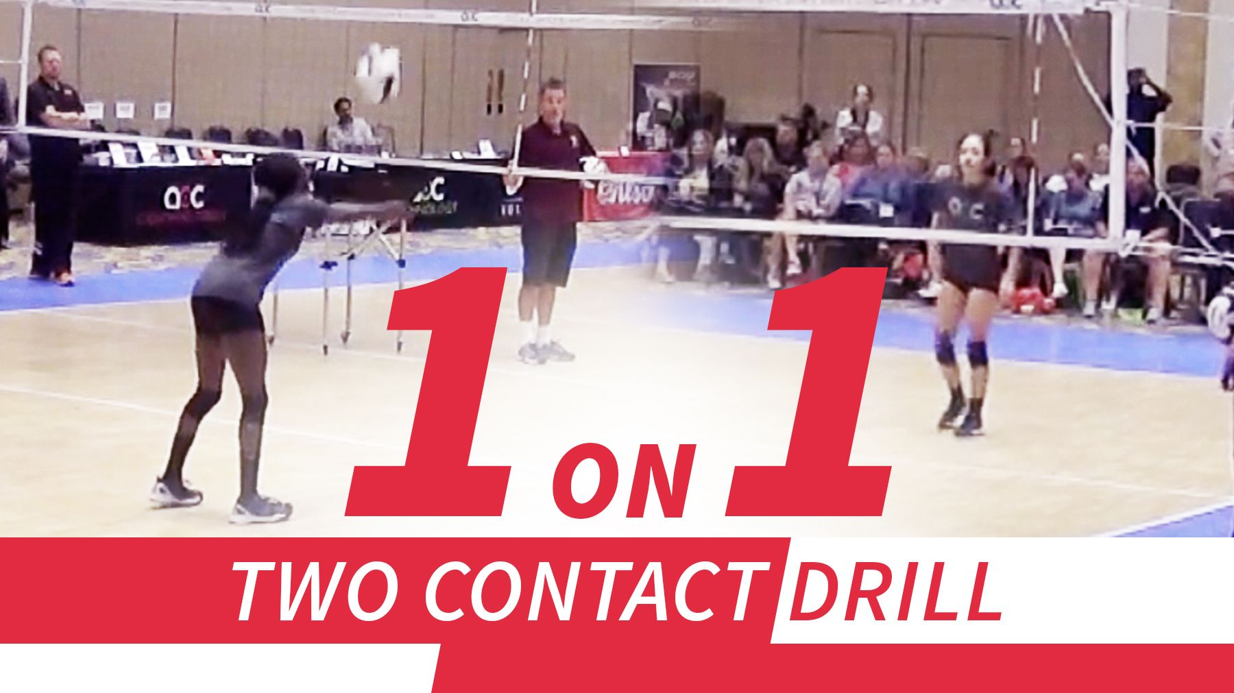 One On One Competitive Two Contact Drill The Art Of Coaching Volleyball Coaching Volleyball Volleyball Drills Volleyball