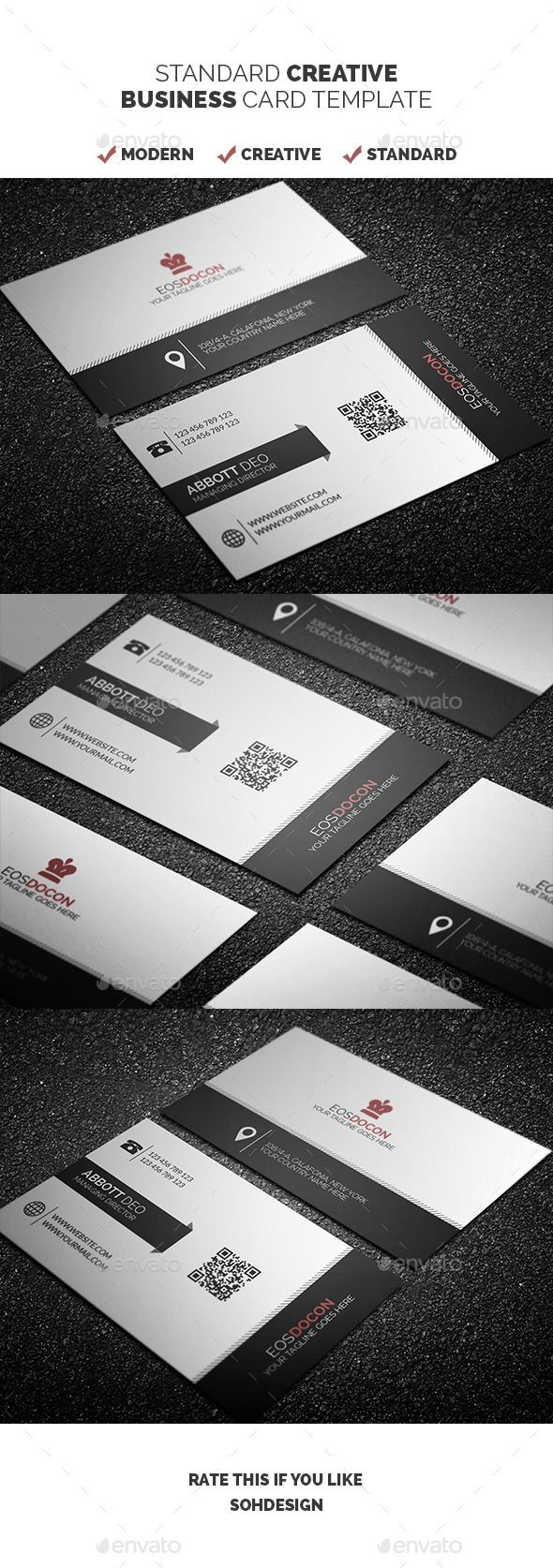 Standard creative business card template 3 fonts creative and standard creative business card template 3 reheart Choice Image