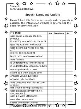 Speech Language IEP input from Parents | Therapy, Parents and ...
