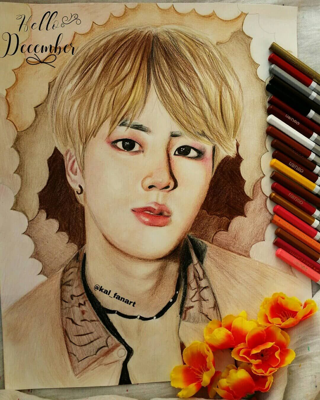 Happy Jin Day Happy Birthday I Hope All Your Birthday Wishes And Dreams Come True Btsfanart Btsart Bts Fanart Birthday Wishes It S Your Birthday