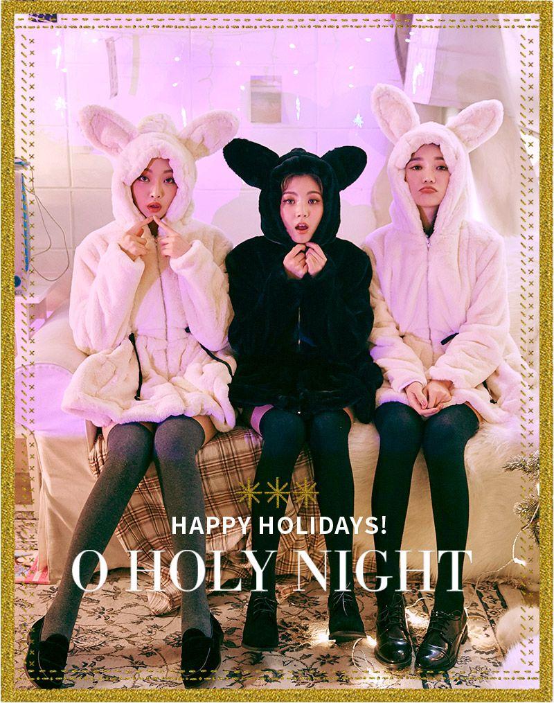 Animal Ears Fluffy Jacket | Korean Fashion