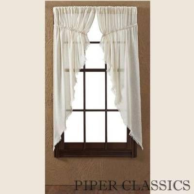 """Tobacco Cloth Natural Prairie Curtain - 63"""""""