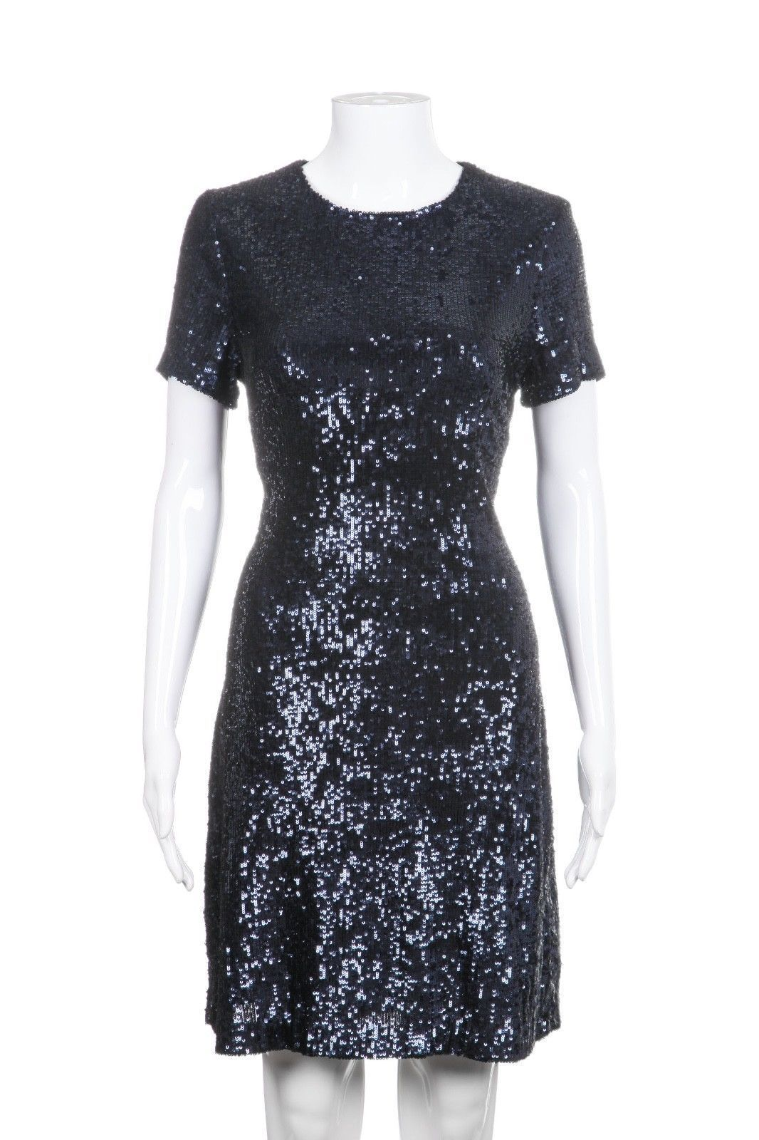 45210a6c7ecc TORY BURCH Blue Sequin Short Sleeve Cocktail Dress Size M in 2019 ...