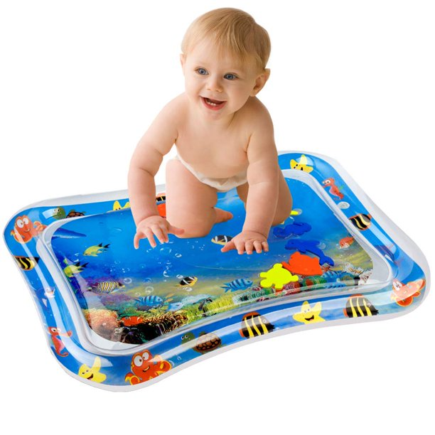 Inflatable Baby Water Mat Infant Tummy Time Playmat Toddler Fun Activity Play Center Walmart Com Walm In 2020 Tummy Time Mat Tummy Time Fun Activities For Toddlers