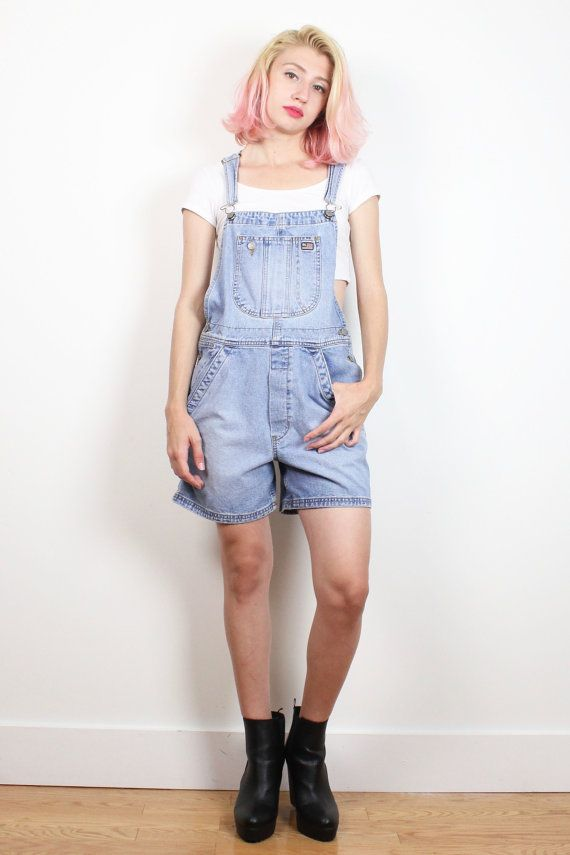 b64f5ad4c950 Vintage 1990s Overall Shorts Worn Blue Shortalls Soft Grunge 90s Ralph  Lauren Polo Jeans Denim Overalls Dungarees Romper Playsuit S Small M #1990s  #90s ...