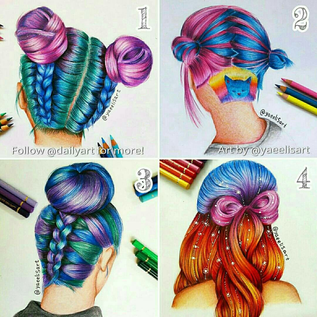 cool drawings hairstyle