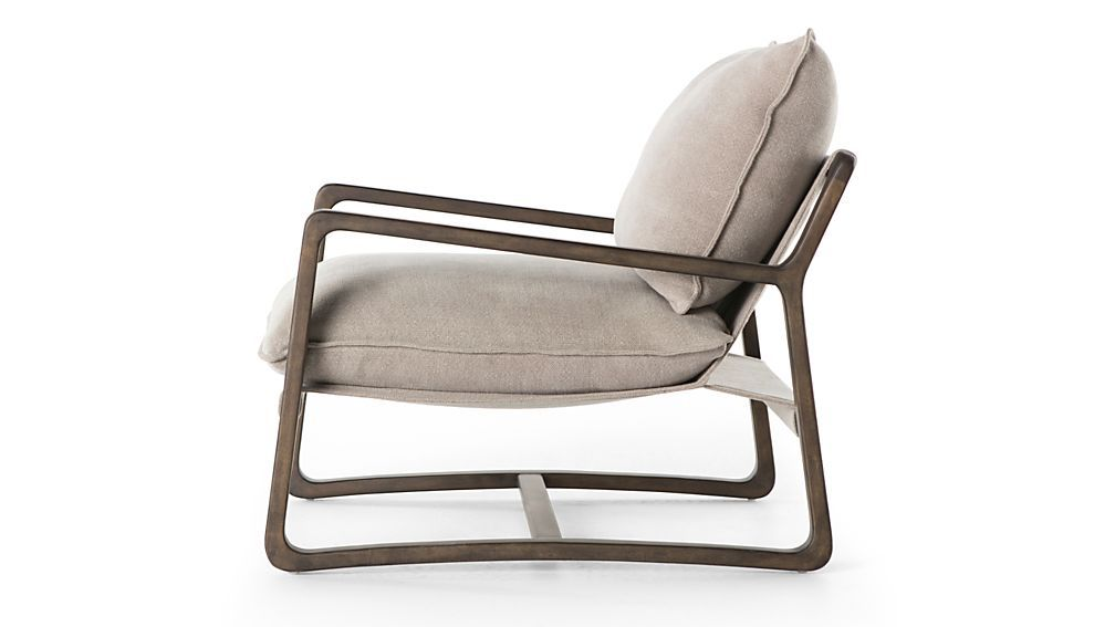 Polly Ivory Accent Chair Reviews Crate And Barrel With Images
