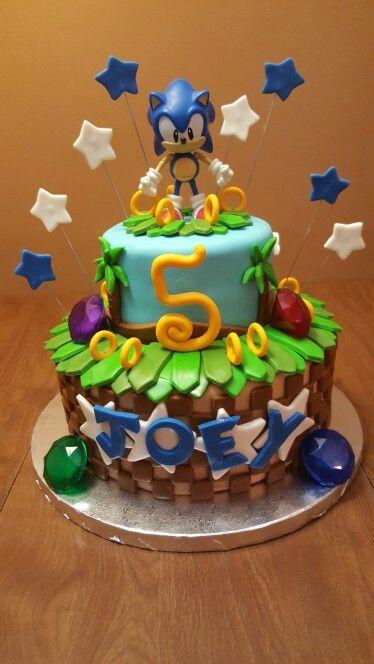 My nephews Sonic Cake. Made by Angies Kitchen