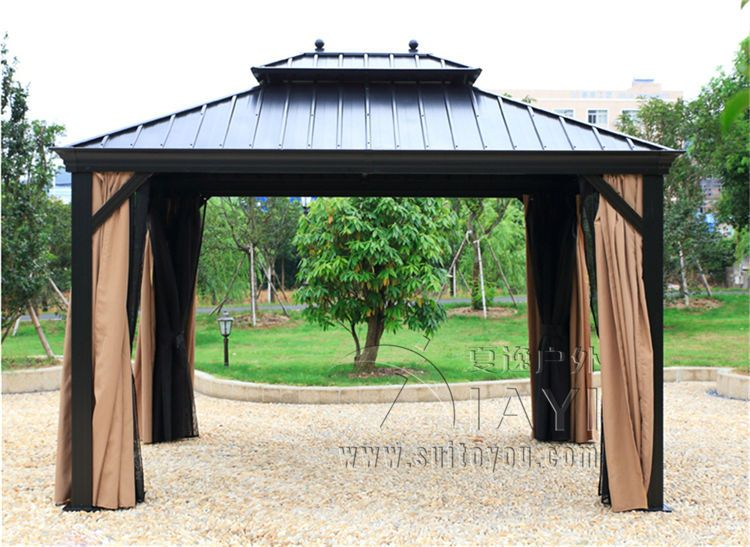 3 6 Meter Deluxe High Quality Metal Canopy Sunjoy Outdoor Garden Gazebo Tent Patio Pavilion Not Rust Durable In Gazebos From Home On