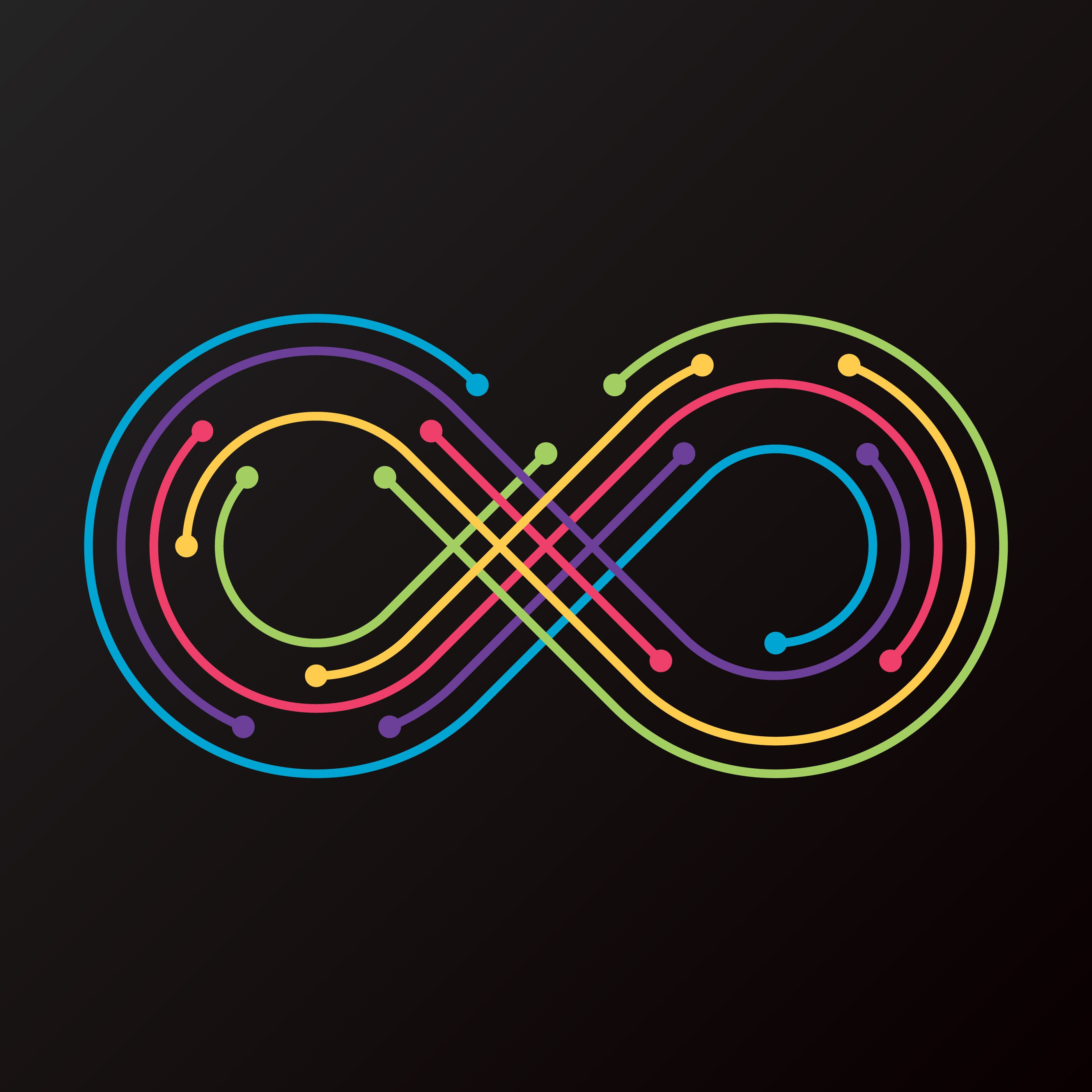 Infinity Colorful Line Logo Template Vector. Choose from