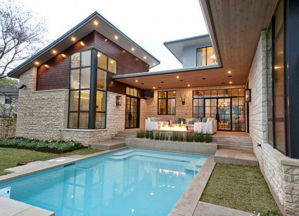Attractive House, Home Swimming Pool Standard Size: Home Swimming Pool Design Adds  Value To Homes