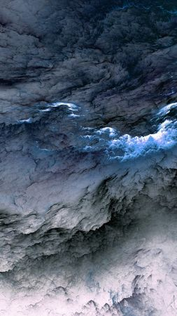 Clouds, 5k, 4k wallpaper, 8k, abstract, blue, live wallpaper, live photo (vertical) | Abstract ...