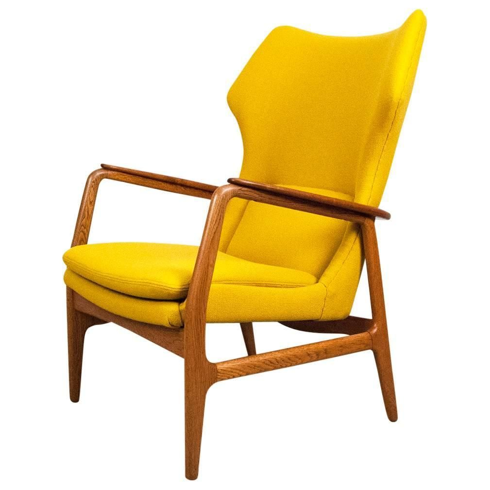 Aksel Bender Madsen Danish Wing Chair, 1960 | See more antique and modern Wingback Chairs at https://www.1stdibs.com/furniture/seating/wingback-chairs