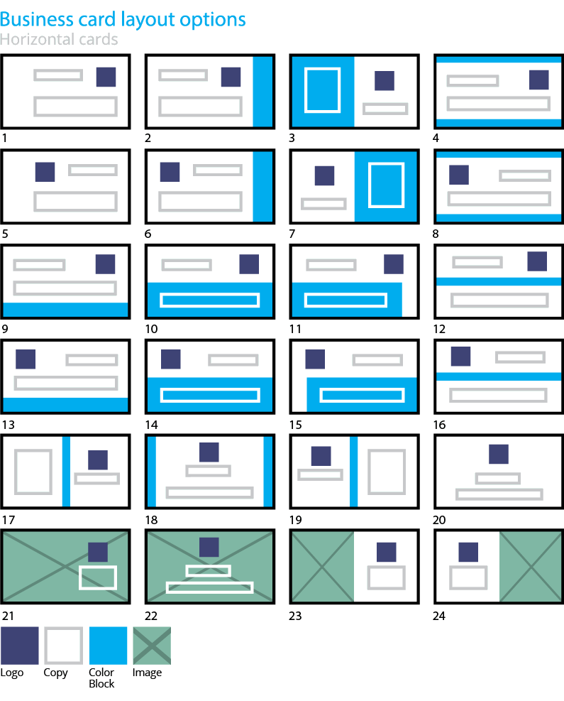 Business Card Design Layout Options