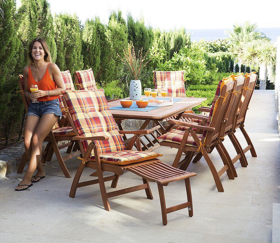 17-tlg. Gartenmöbel-Diningset »Maracaibo« mit 2 Fußteilen für 799,99€. 17-tlg. Diningset »Maracaibo« bei OTTO