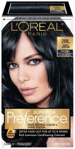 L Oreal Paris Superior Preference Hair Color Black Sapphire