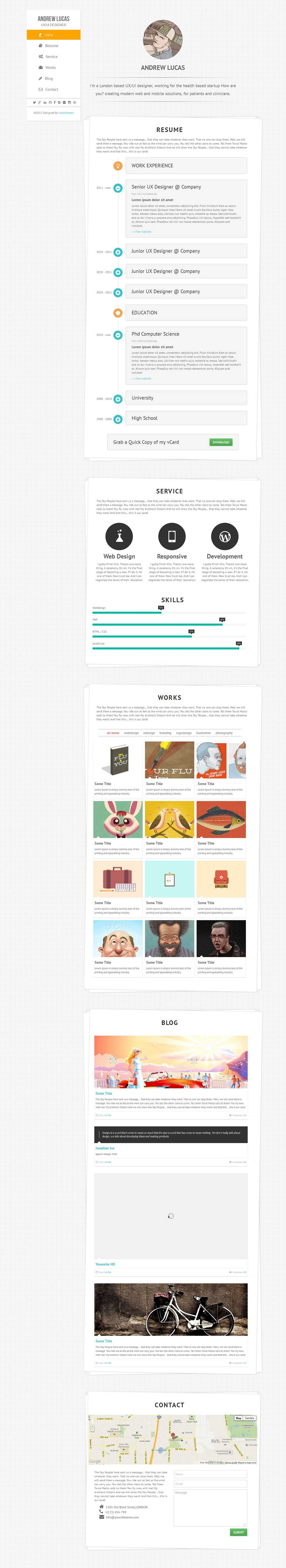 Pin By One Page Love On One Page Website Templates Business Card Inspiration Web Design Templates