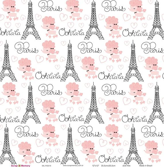 Papel para Scrapbook Torre Eiffel Paris | Scrap Memory Scrapbook ...