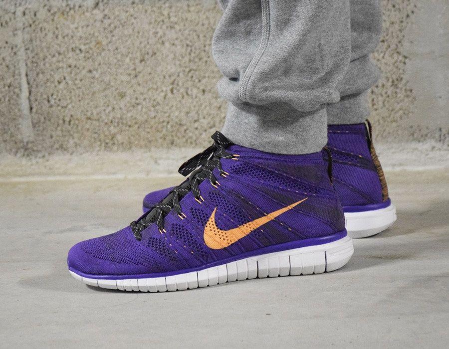 Nike Free Flyknit Chukka PurpleOrange #sneakers | Sneakers