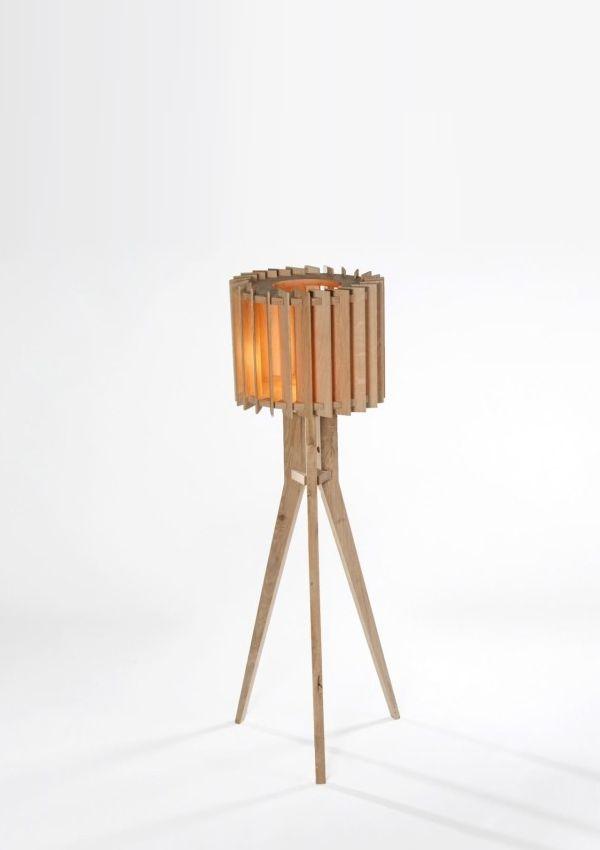 Lamel Nº1 Wooden Floor Lamp by Samosa