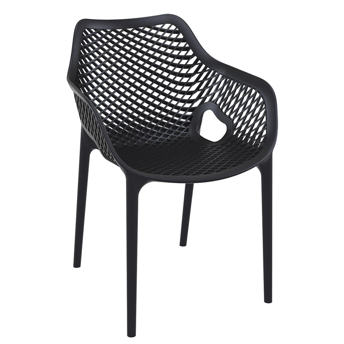 Gartenstühle kunststoff blau  Der Outdoorstuhl AIR XL aus Kunststoff ermöglicht durch das ...