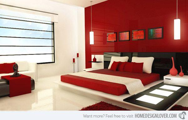 Master Bedroom Interior 15 invigorating red bedroom designs | red bedroom design, red