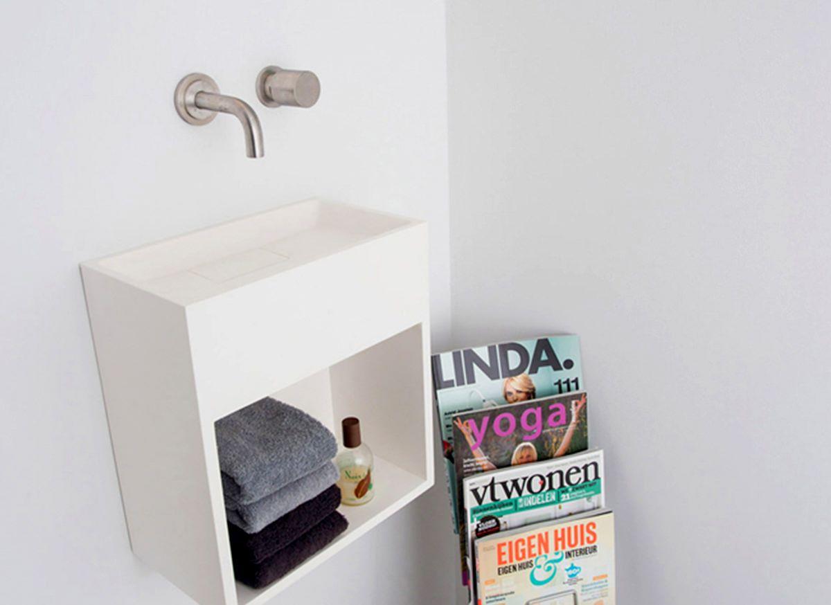 Wasbakje voor in het toilet handgemaakt in nederland de cocoon