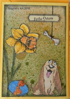 Sophie's Art: Frohe Ostern mit Knochen  -  Happy Easter with Dog...