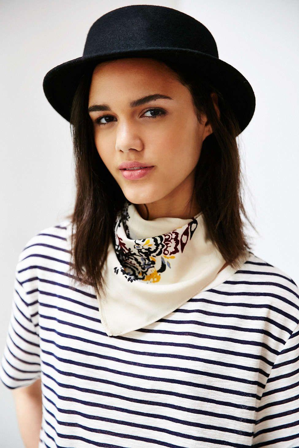 3b056e2387dd2 Marnie Short Brim Felt Bowler Hat - Urban Outfitters