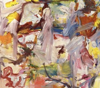 Willem de Kooning (American, Dutch, 1904 - 1997) Untitled XVI - Figural composition 1975