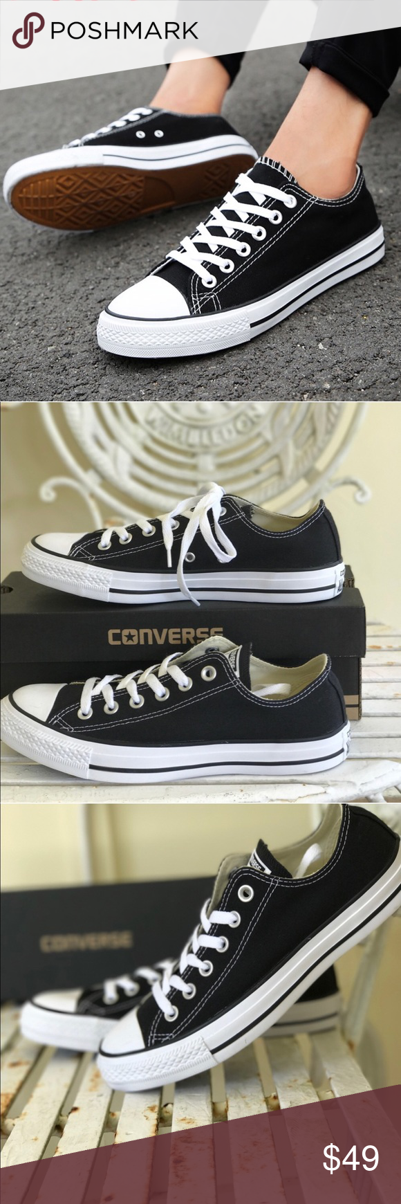 Converse AllStar Adult Fabric Black LT M AUTHENTIC Brand new with box.  Price is firm f4a243d97