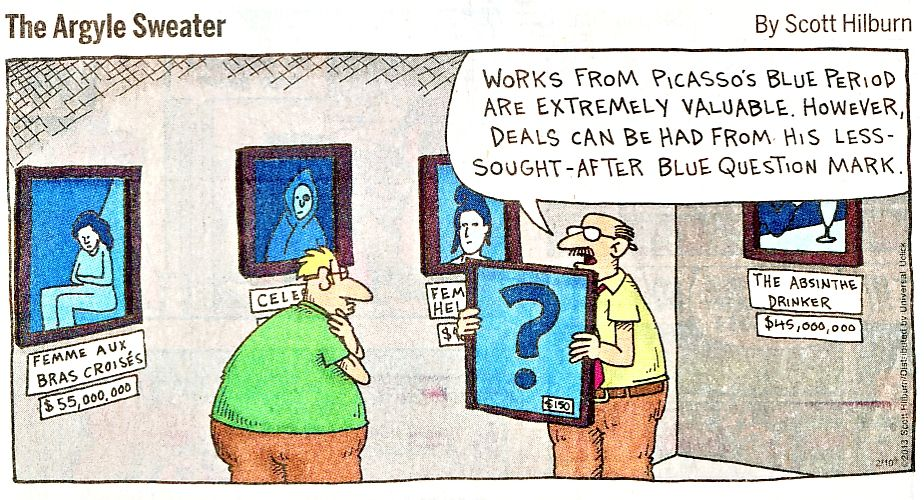 Argyle Sweater - Picasso's Blue Question Mark