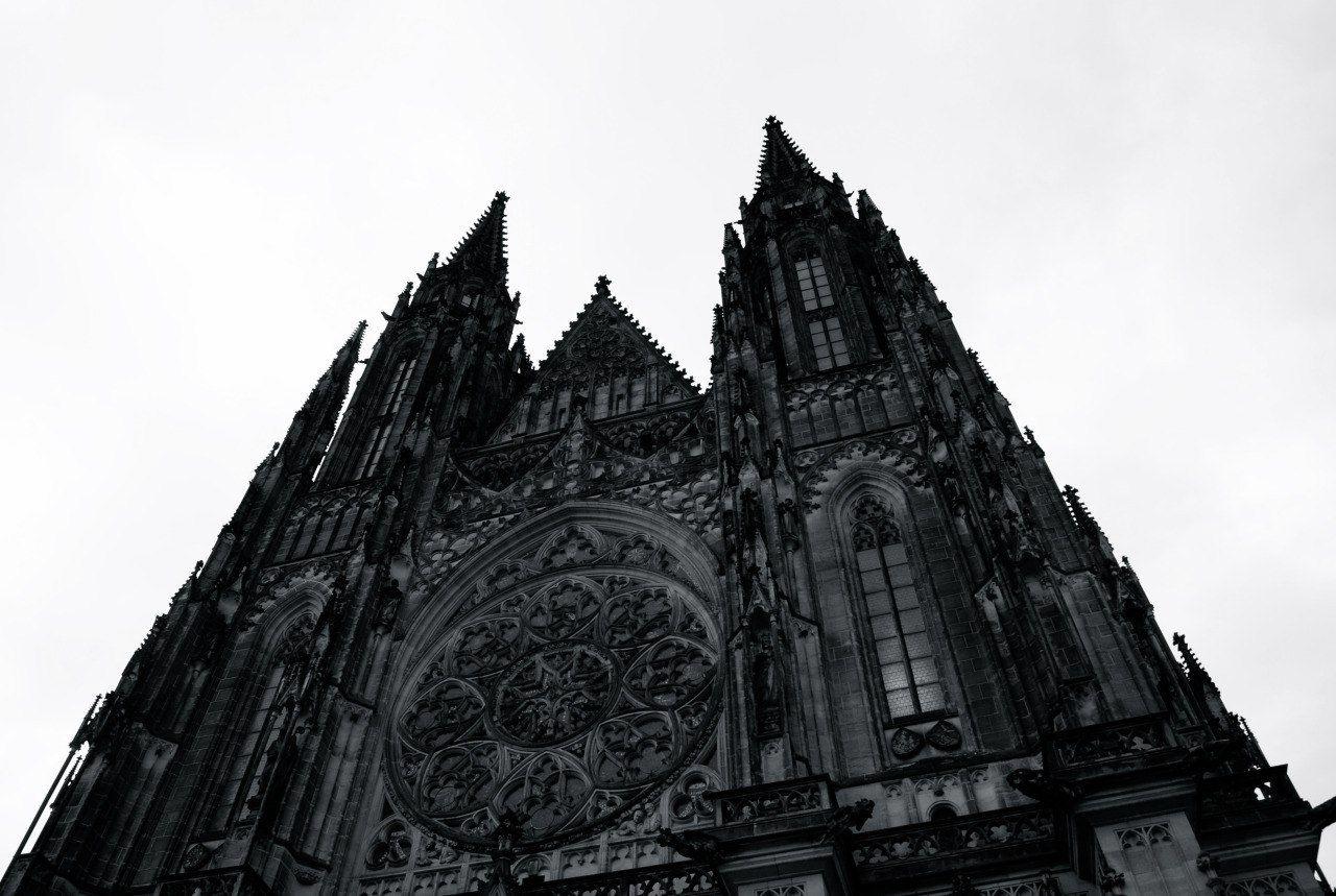 ретро фото готической архитектуры большинстве