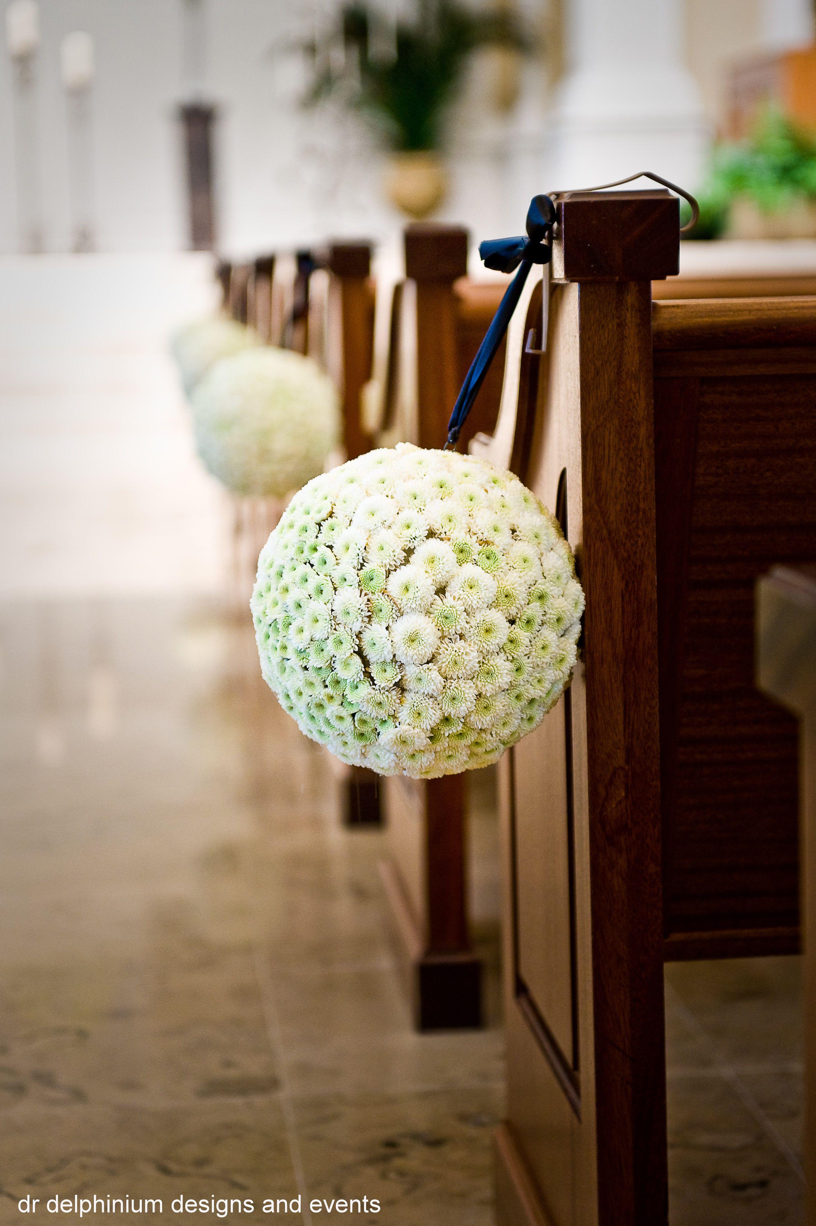 Dr Delphinium Wedding Pew Marker Church Wedding Decorations