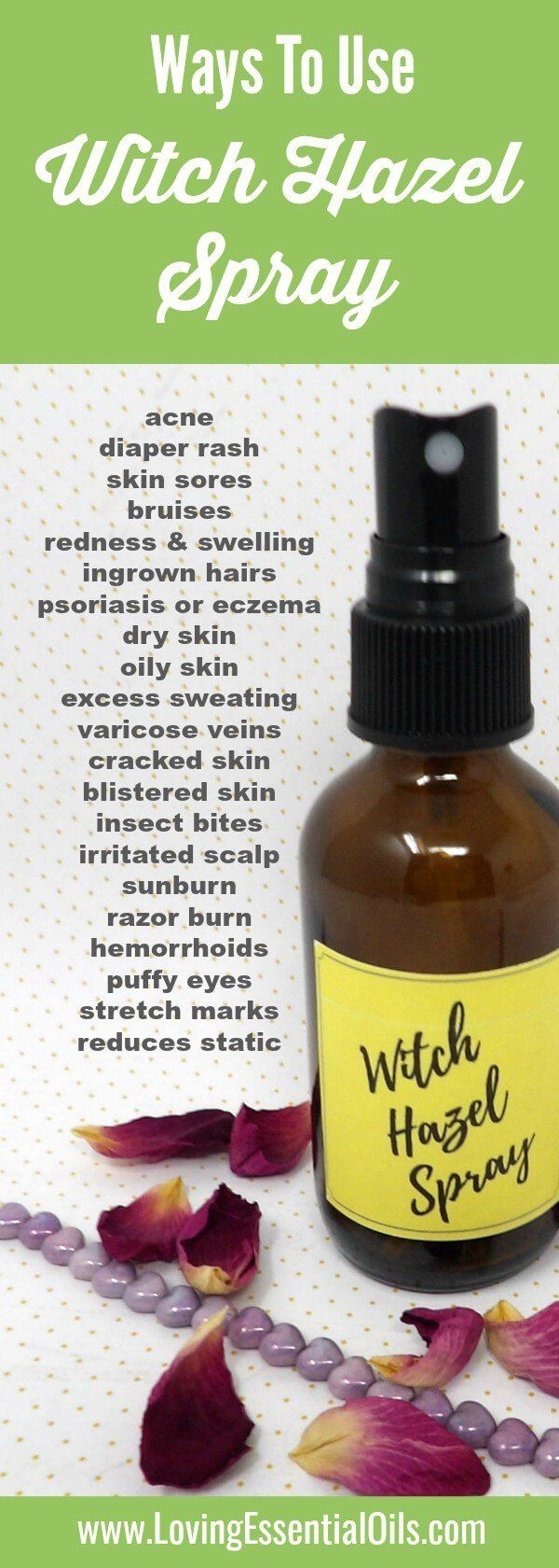 Ways to use witch hazel spray for beauty, skin care and hair care