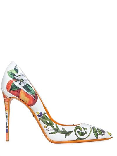 c0d64f8b24b DOLCE   GABBANA - 105MM KATE CERAMICA ORANGE PATENT PUMPS - LUISAVIAROMA -  LUXURY SHOPPING WORLDWIDE SHIPPING - FLORENCE