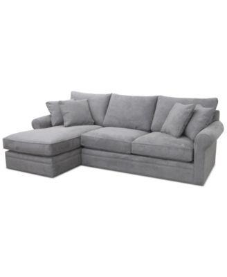Doss Ii 2 Pc Fabric Chaise Sectional Sofa Living Room
