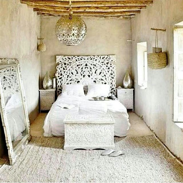 White Bedroom Ideas With Wow Factor: Zen All White Ethnic Decor Just As Much Wow Factor As
