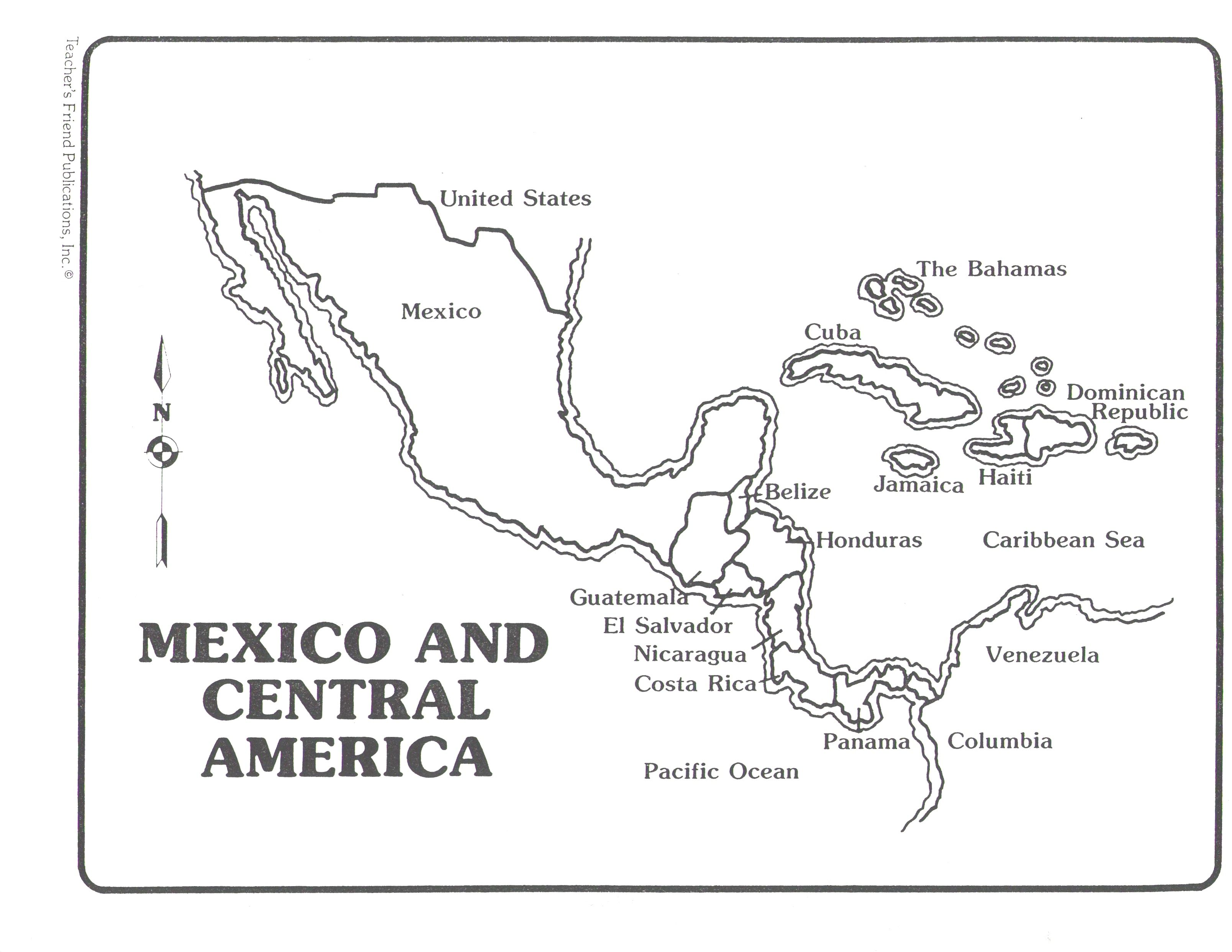 Blank Central America Map Worksheet Blank Map Of Central