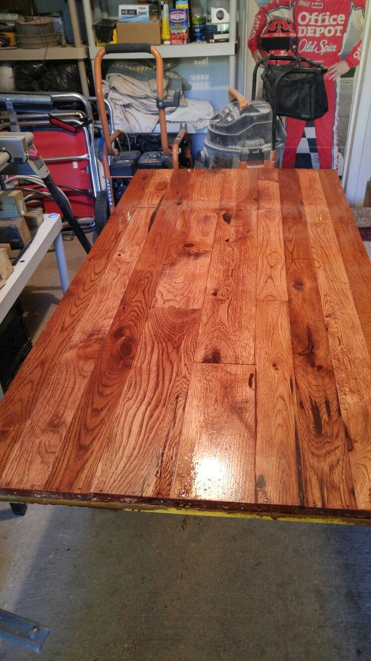 Handmade Table Tops From Reclaimed Wood Stained In Red Oak 4 Coats Of  Polyurethane..can Make For Coffee Table, Bar Top Or Counter Top On Kitchen  Center ...
