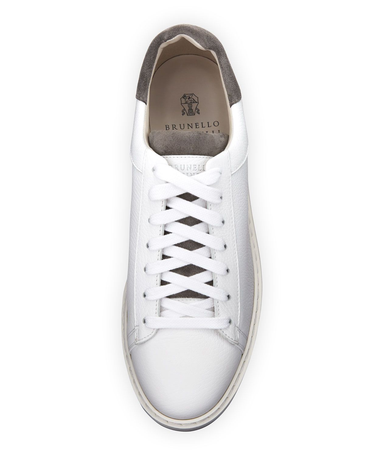 Brunello Cucinelli Icaro Low Top Sneaker In Calf Leather With