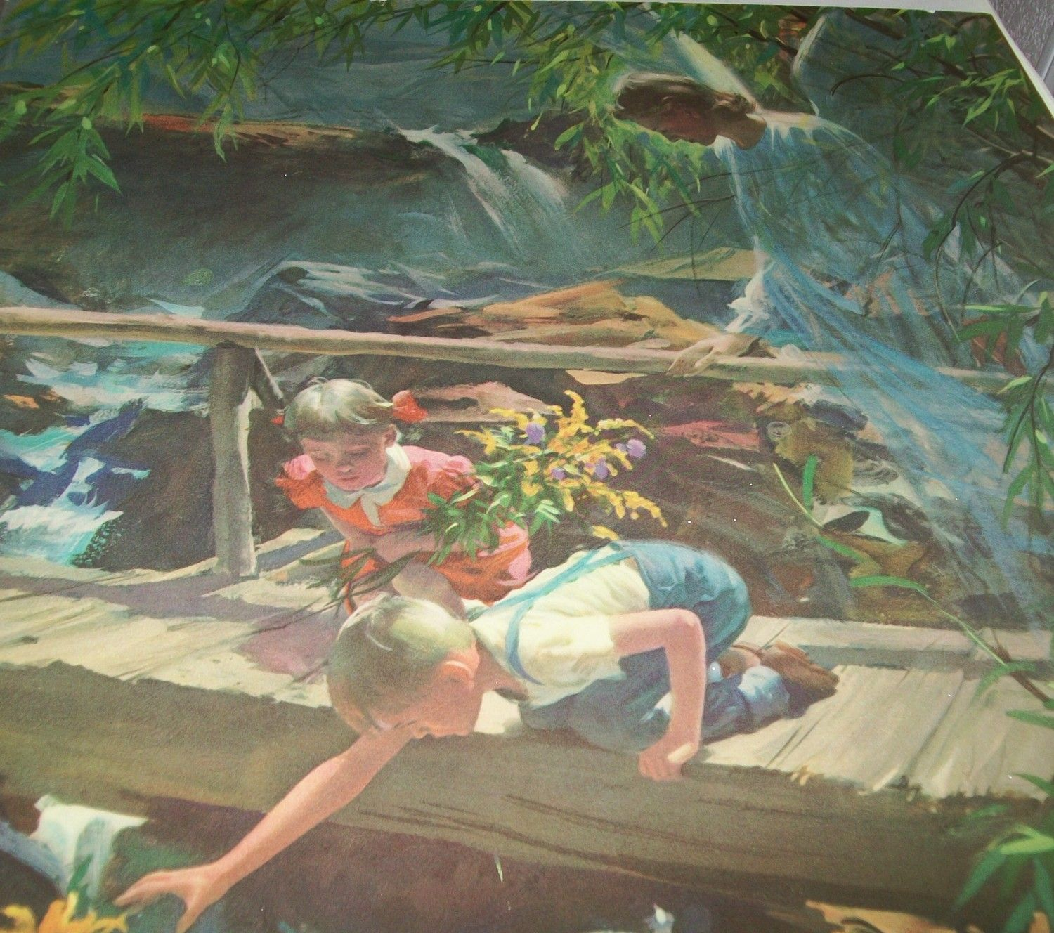 Guardian Angel With Boy And Girl On Bridge Wide View Google Search