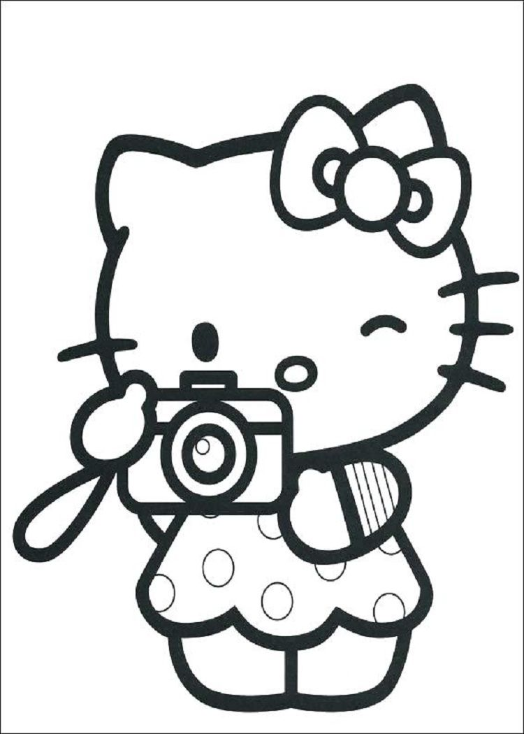 Hello kitty coloring pages full size