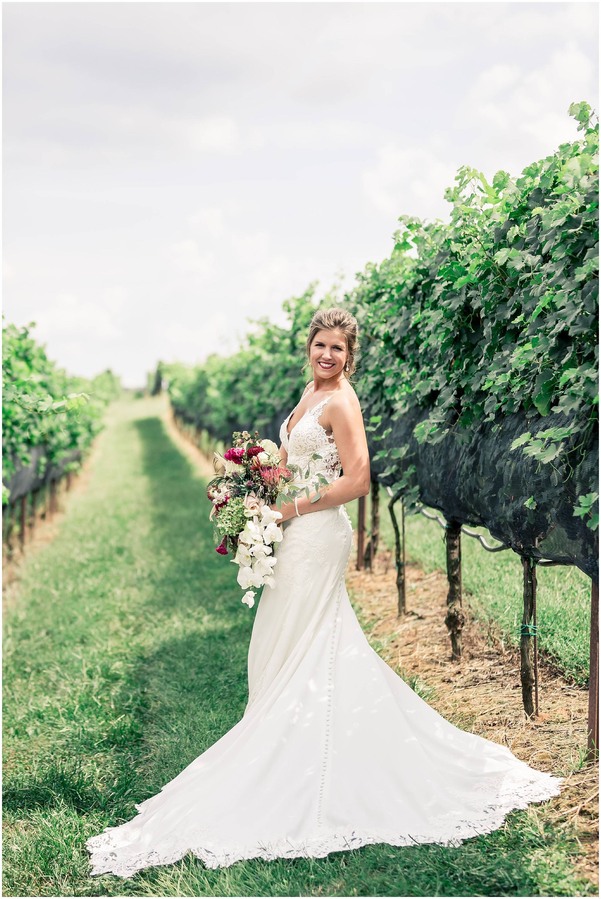 Bridal Portraits In The Vineyard Yonah Mountain Vineyards Wedding Pictures Fall Themed With Navy Burgundy And Greenery: Mountain Themed Wedding Dress At Websimilar.org