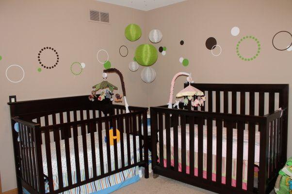 Twin Nursery For Boy And Girl Nursery Twins Baby Cribs