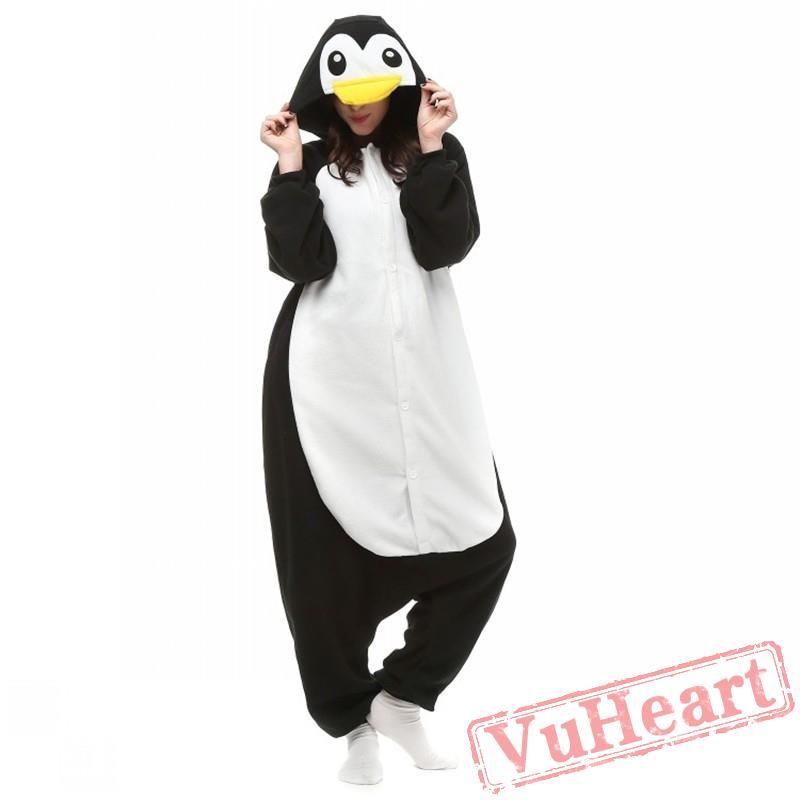Kigurumi Black Penguin Kigurumi Onesies Adult Animal Onesies